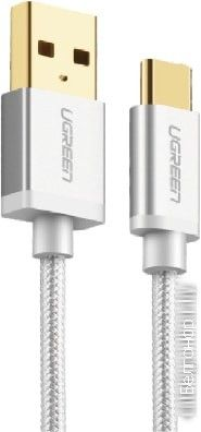 Кабель USB-C Ugreen US174 1 м (серебристый)